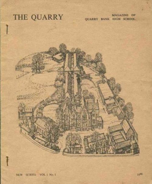 The Quarry, Vol.1 No.1 1966, a millstone er sorry, milestone in publishing history.  Quarry Bank High School (for boys)  Friends R