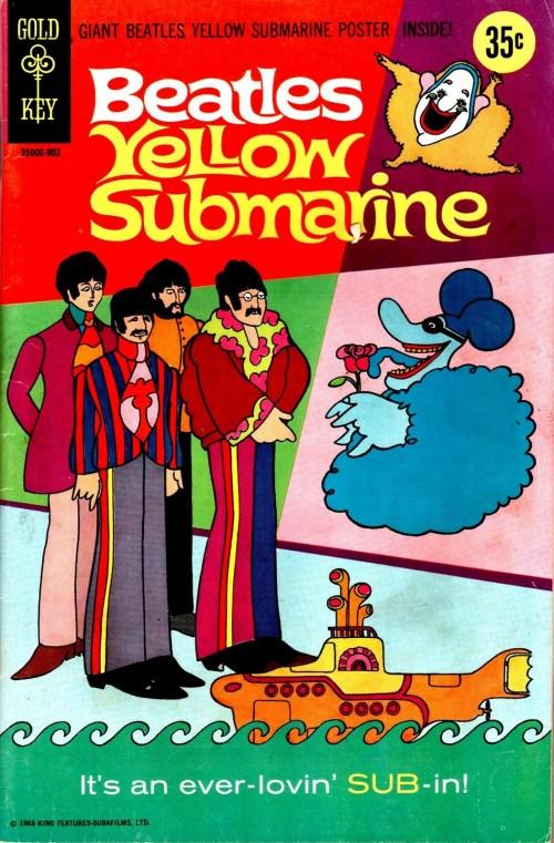 BEATLES YELLOW SUBMARINE COMIC COVER