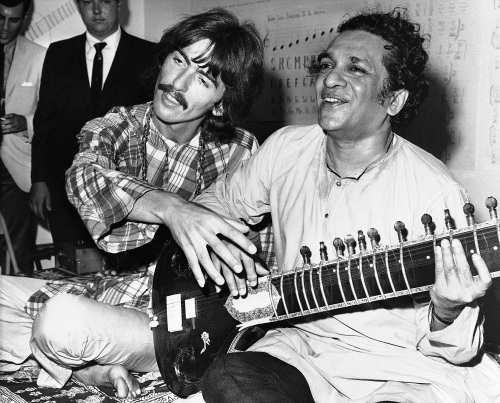 Ravi Shankar And George Harrison 1967